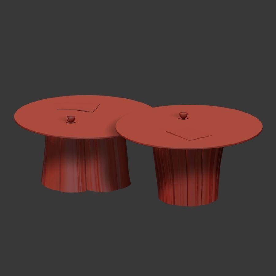 Glazen tafels van stronken royalty-free 3d model - Preview no. 17