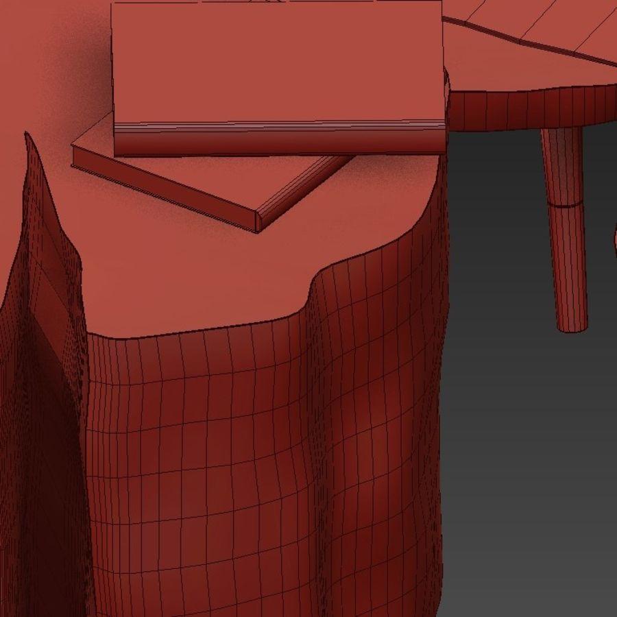 그루터기와 슬래브에서 커피 테이블 세트 royalty-free 3d model - Preview no. 46