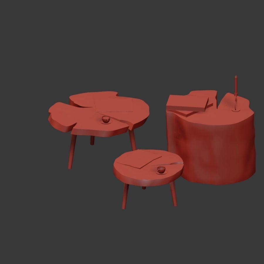 그루터기와 슬래브에서 커피 테이블 세트 royalty-free 3d model - Preview no. 32