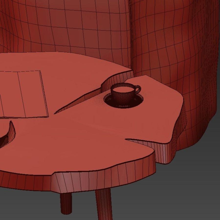 그루터기와 슬래브에서 커피 테이블 세트 royalty-free 3d model - Preview no. 44