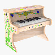 Liten elektronisk piano för barn 3d model