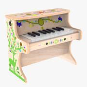 子供用小型電子ピアノ 3d model