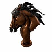 PBR Låg Poly Horse Bust 3d model