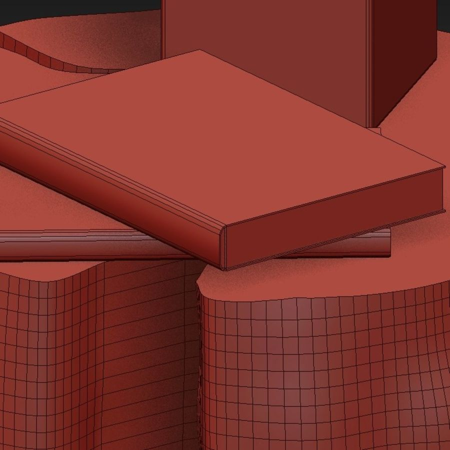 Slab and stump tables royalty-free 3d model - Preview no. 42