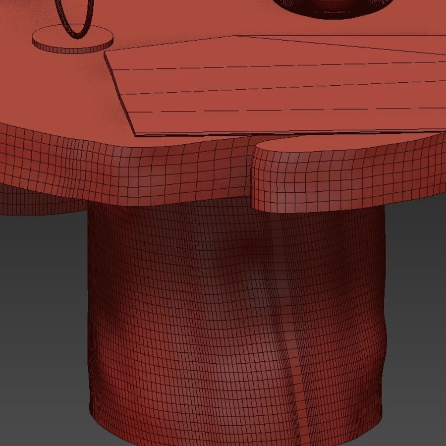Slab and stump tables royalty-free 3d model - Preview no. 43