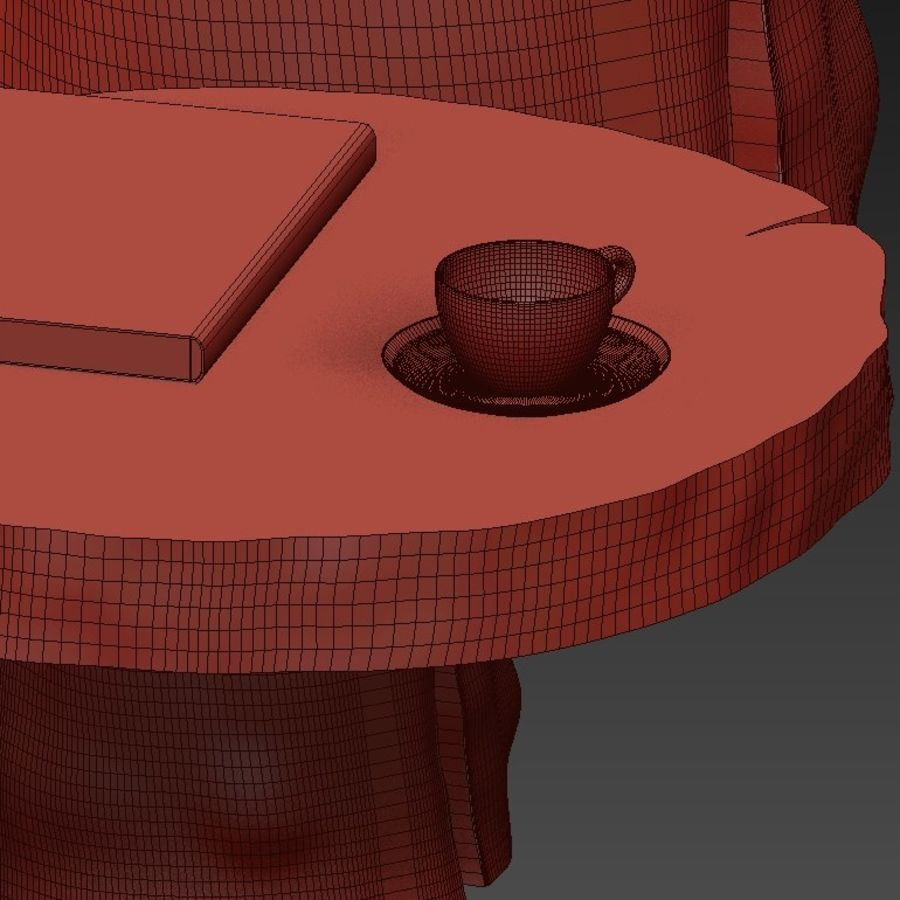 A set of dark tables from stumps and slab royalty-free 3d model - Preview no. 42