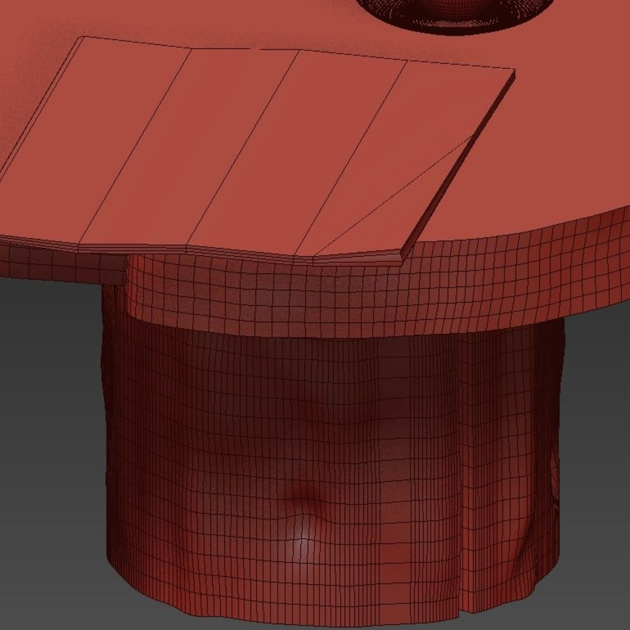 A set of dark tables from stumps and slab royalty-free 3d model - Preview no. 44