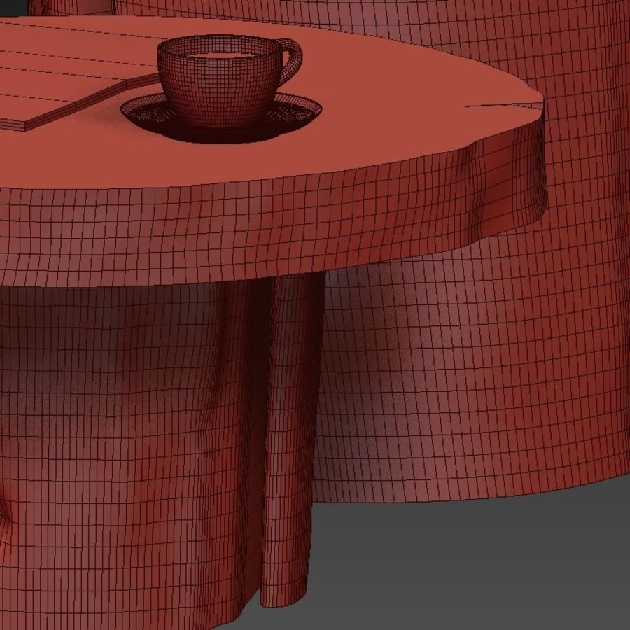 A set of dark tables from stumps and slab royalty-free 3d model - Preview no. 45