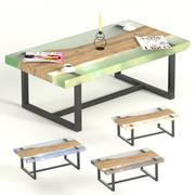 平板和环氧树脂茶几 3d model