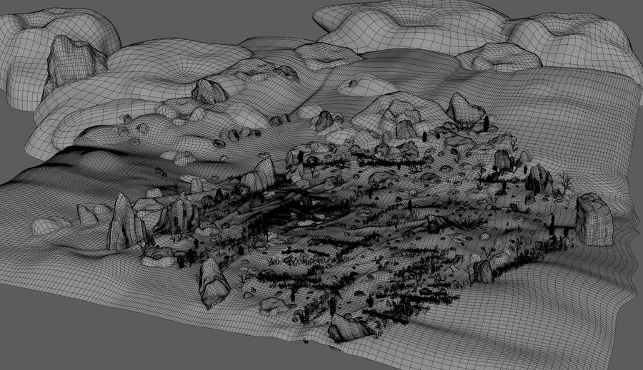 Ambiente desertico royalty-free 3d model - Preview no. 15