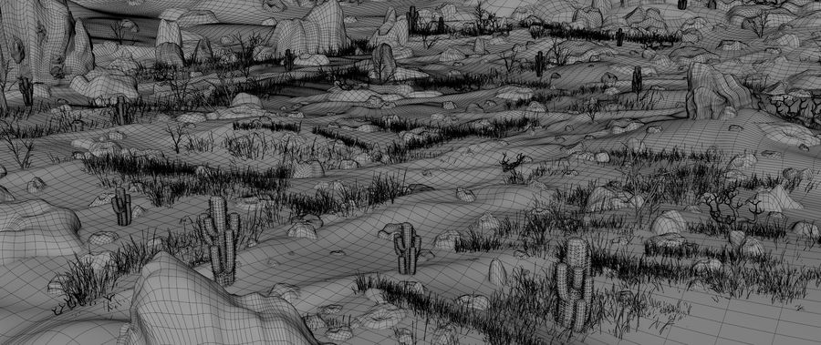 Desert Environment royalty-free 3d model - Preview no. 13