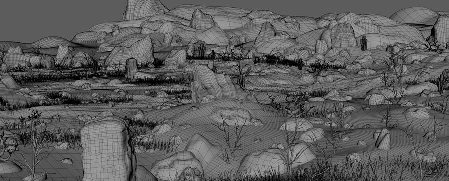 Ambiente desertico royalty-free 3d model - Preview no. 11