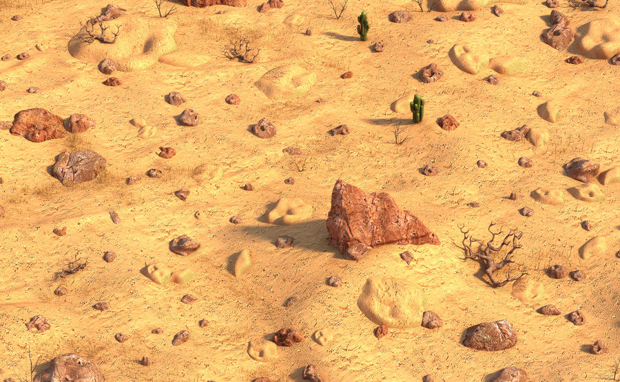 Ambiente desertico royalty-free 3d model - Preview no. 7