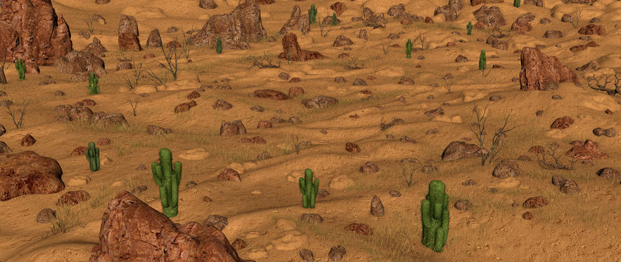 Ambiente desertico royalty-free 3d model - Preview no. 12