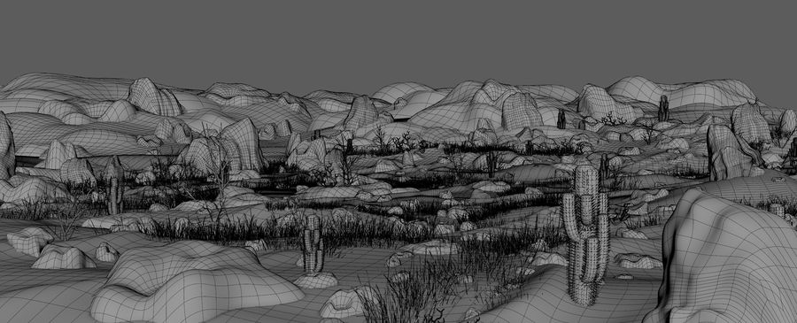 Desert Environment royalty-free 3d model - Preview no. 9