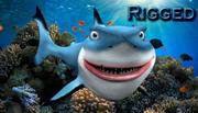 cartoon haai 3d model