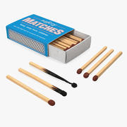Safety Matches Set 3d model