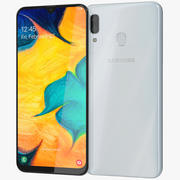 Samsung Galaxy A30 White 3d model