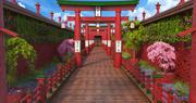 Fantasy Asian Entance 3d model
