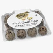 Quail Eggs Plastic Box 3D Model 3d model