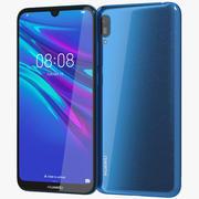 Huawei Y6 2019 Sapphire Blue 3d model