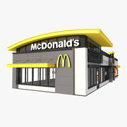 McDonalds McCafe Drive Thru 3d model