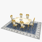 Victorian Table and Chair Set 3d model