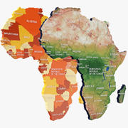 Africa Due proposte mappe colorate 3d model