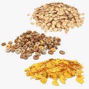 Colección de cereales modelo 3d
