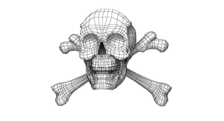 Crâne et os royalty-free 3d model - Preview no. 22