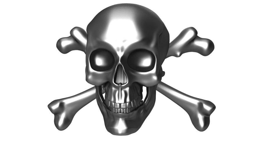 Crâne et os royalty-free 3d model - Preview no. 8