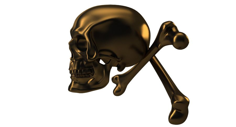 Crâne et os royalty-free 3d model - Preview no. 13