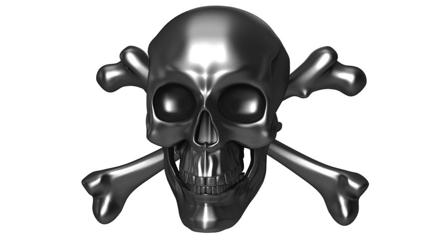 Crâne et os royalty-free 3d model - Preview no. 7