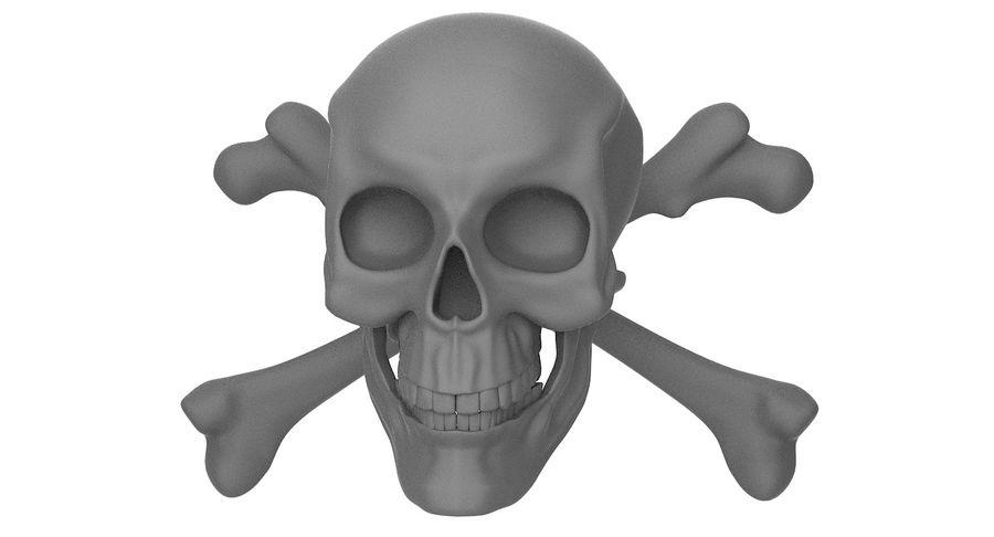 Crâne et os royalty-free 3d model - Preview no. 4