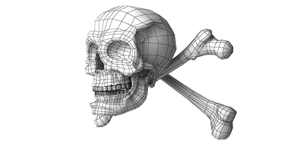 Crâne et os royalty-free 3d model - Preview no. 21