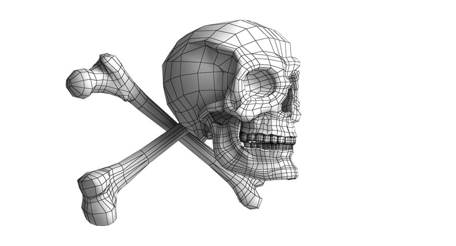 Crâne et os royalty-free 3d model - Preview no. 23