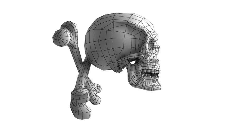 Crâne et os royalty-free 3d model - Preview no. 24