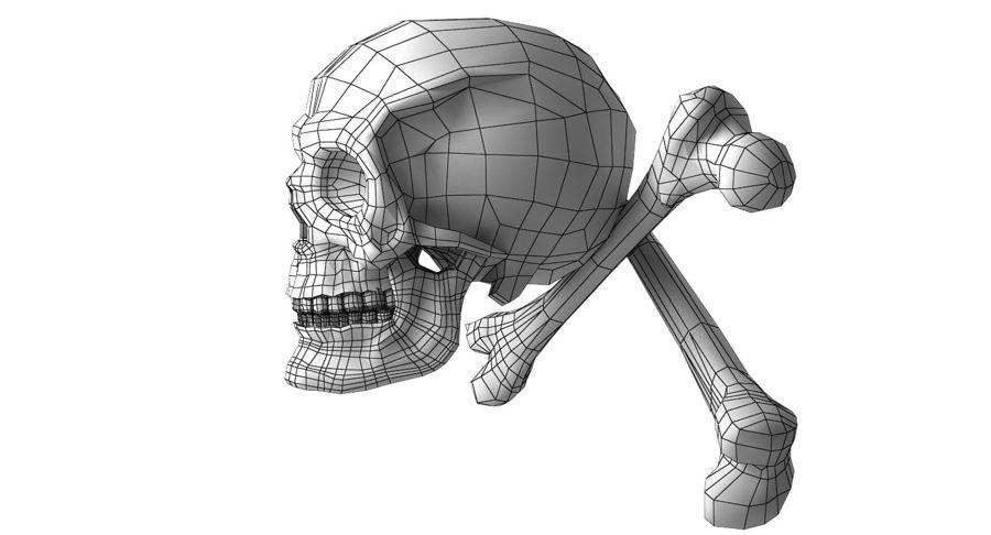Crâne et os royalty-free 3d model - Preview no. 20