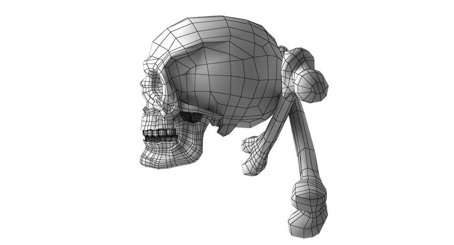 Crâne et os royalty-free 3d model - Preview no. 19