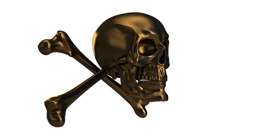 Crâne et os royalty-free 3d model - Preview no. 16