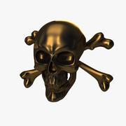 Kafatası ve kemikler 3d model