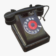 Sovyet telefon Bagta PBR 3d model