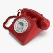Retro Design Corded Landline Phone 3d model