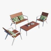 Vaya Terrace Set 3d model