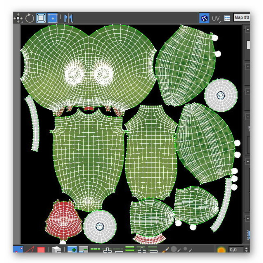 cartoon sea turtle royalty-free 3d model - Preview no. 11