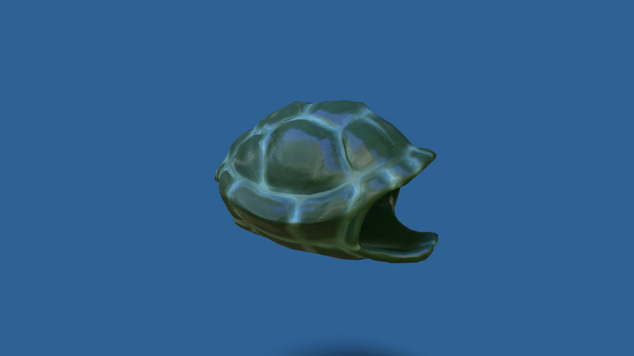 cartoon sea turtle royalty-free 3d model - Preview no. 7