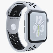 Blanco Apple Watch Series 4 Nike modelo 3d