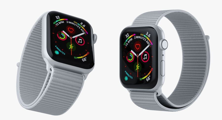 Seashell 스포츠 루프가 장착 된 화이트 Apple Watch royalty-free 3d model - Preview no. 9