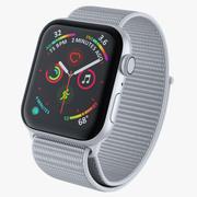 Seashell 스포츠 루프가 장착 된 화이트 Apple Watch 3d model