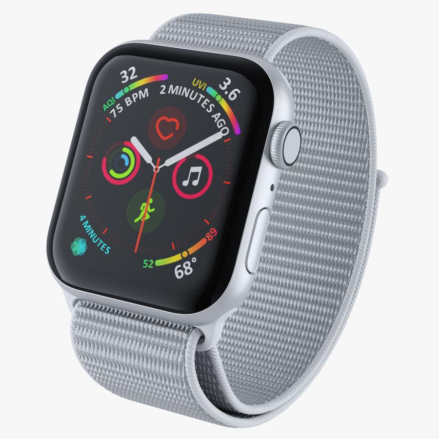 Seashell 스포츠 루프가 장착 된 화이트 Apple Watch royalty-free 3d model - Preview no. 1